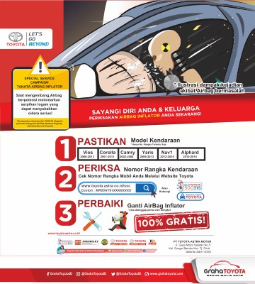 SPECIAL SERVICE CAMPAIGN TAKATA AIRBAG INFLATOR